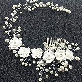 USHOT Bridal Tiara Flower Comb Comb Princess Hair Comb Wedding Tiara Hairpin