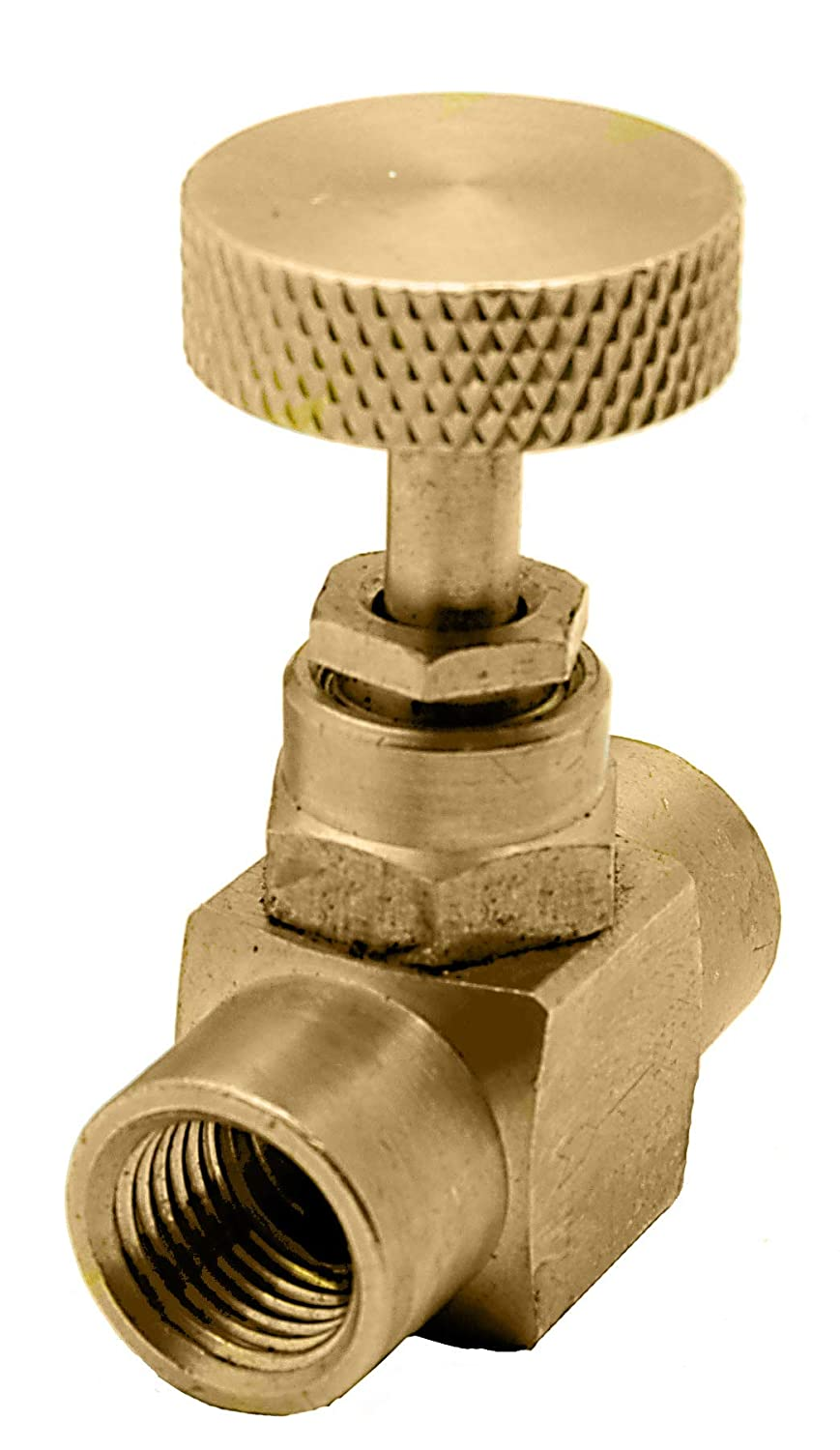 Litorange 1 Pack Heavy Duty Brass Replacement Control Needle Valve 1//4 Male NPT X 1//4 Male NPT Connection