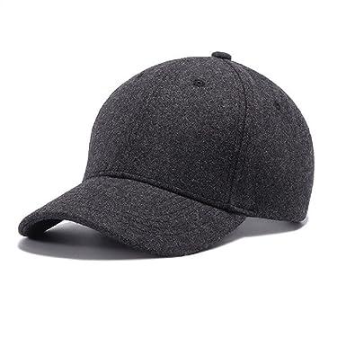4d5c72106e1 GEEAUASSD 野球帽子 メンズ おしゃれ大きいサイズ キャップ 黒 ハット メンズ 大きいサイズ 羊毛 秋 冬