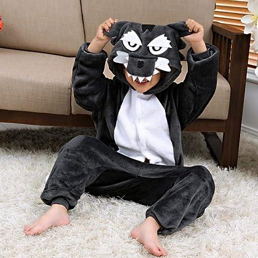 NO BRAND Los Niños del Lobo Gris con Capucha Pijama Niños ...