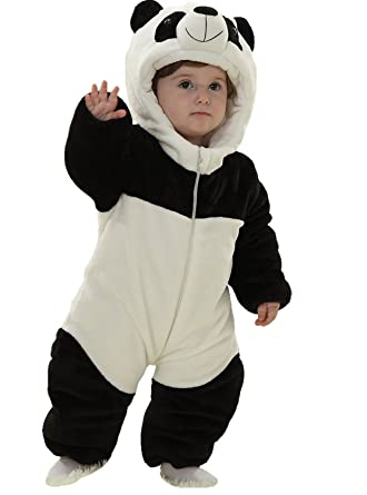 43fcd69f61e1 Baby Winter Snowsuit Fleece Hoodie Jumpsuit Outwear Bear One-Piece  6-12Months Panda