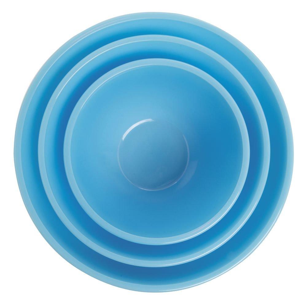 Mosser Glass Robins Egg Blue Vintage Mixing Bowl Set