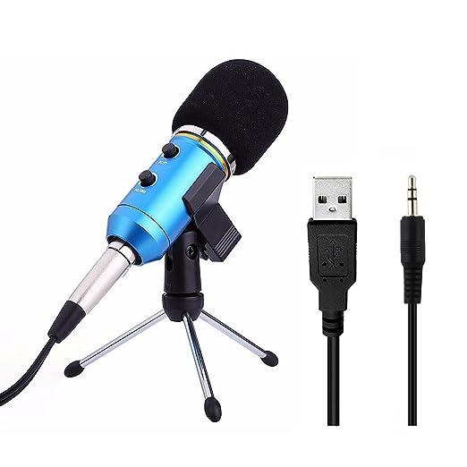 54 opinioni per Microfono Usb a Condensatore Professionale Microfono di Registrazione Mic