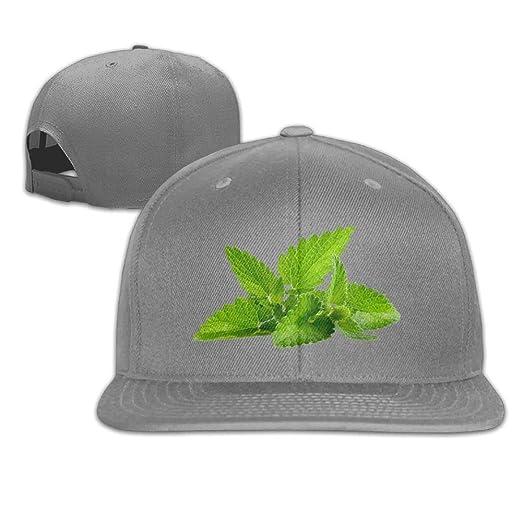 Xieadery Mint Leaves Flat Brim Baseball Cap Adjustable Snapback Trucker Hat  Caps Hip Hop Hat at Amazon Men s Clothing store  0d429d75c868