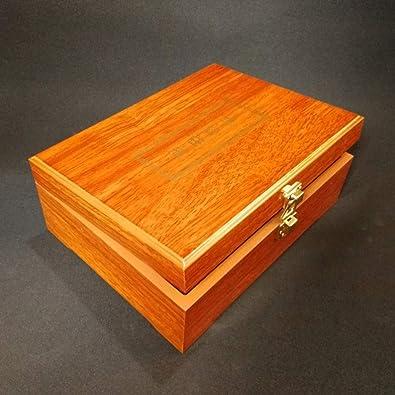Colección conmemorativa de la caja de identificación de monedas Colección de la caja de madera Caja