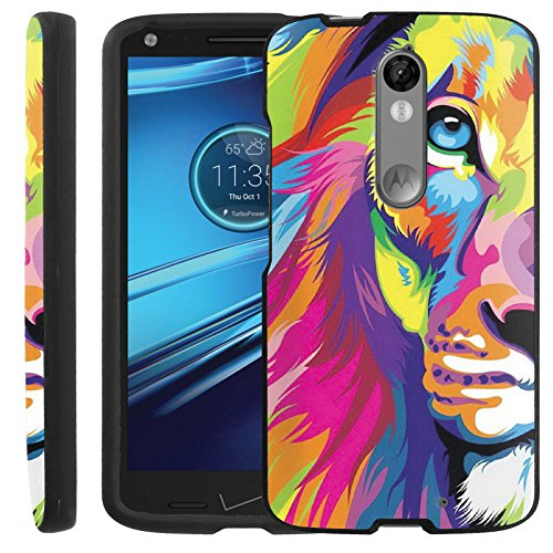 [Color Loin] Droid Turbo 2 [GUARD] Hard Cover Case [Shock Aborbing] Protection Case [2PC Full Body] Ultra Slim for Droid Turbo 2