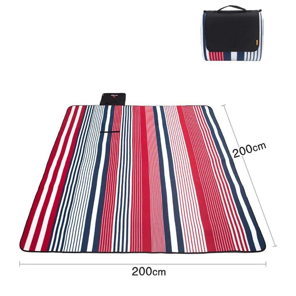 ZKKWLL Picnic Blanket Large Picnic Blanket Thick Padded Picnic mat Outdoor Lawn mat Beach mat Wild Camping mat Beach mat (Color : B) by ZKKWLL
