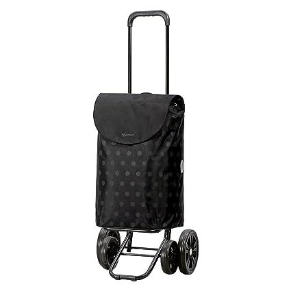 Andersen Carro de compra Quattro con bolsa Gitti negra, volumen 49L, marco acero con