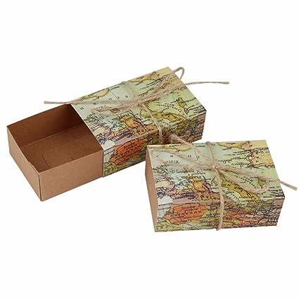Bolsa de regalo Boda Como Kraft Papel Caramelo Caja De ...