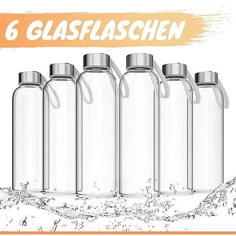LA VIDA AQUA botella agua cristal 550 ml (Set de 6) Botellas de ...