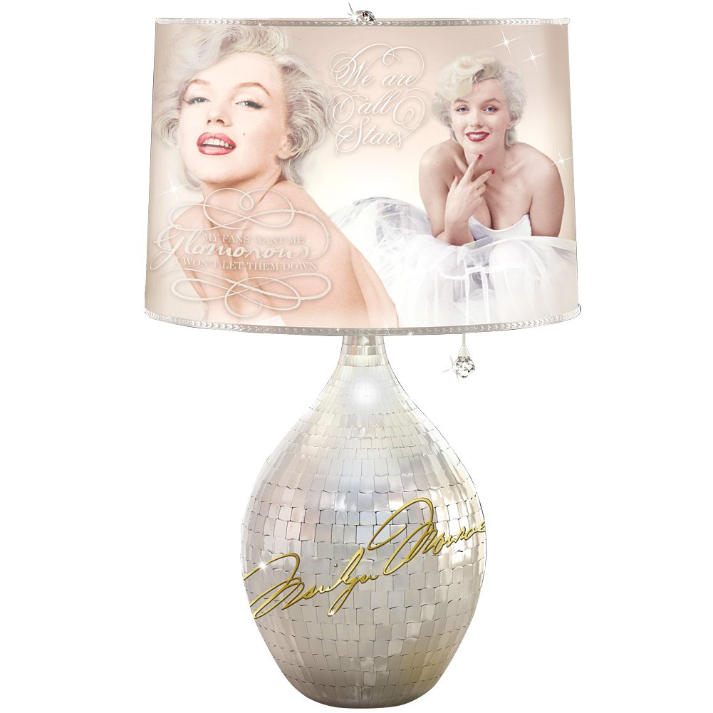 Marilyn Monroe Legendary Glamour Tabletop Lamp with Milton Green Photographs by The Bradford Exchange