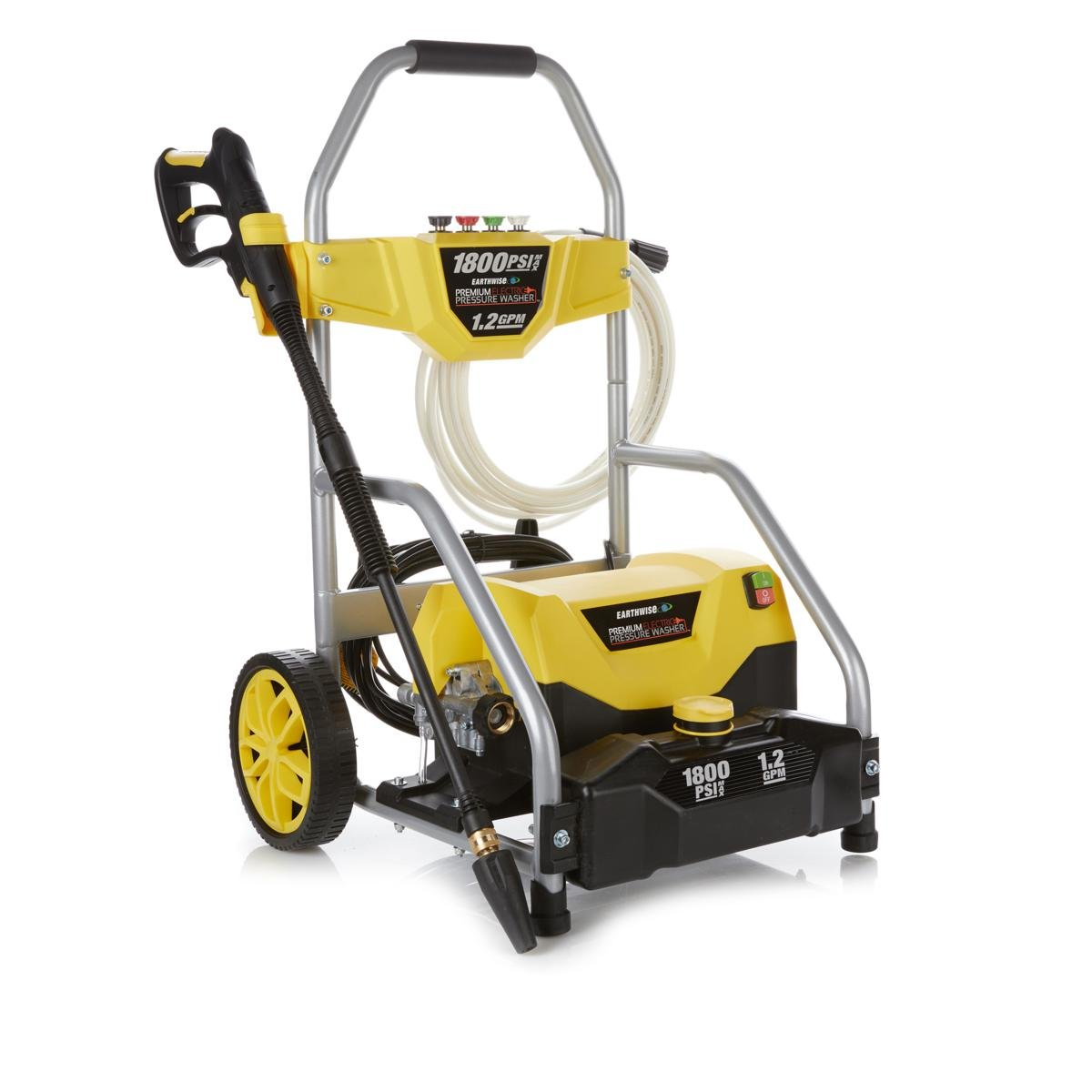 Earthwise 1800 PSI Electric Pressure Washer with Turbo Wand - Yellow