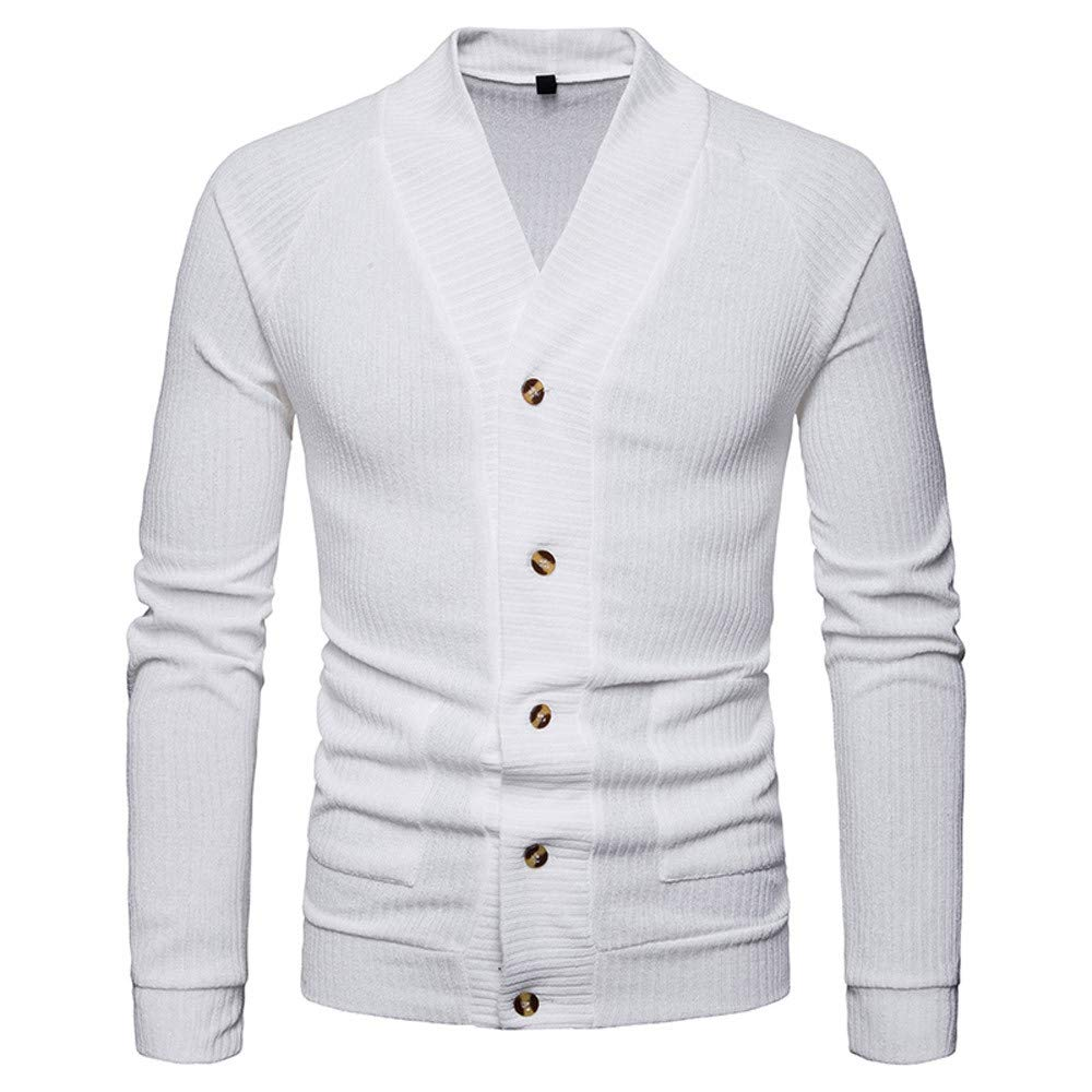 Amazon.com: Easytoy City Casual Mens Ribbing Knitwear Shawl Collar V-Neck Cardigan Cashmere Button Placket Sweaters with Pockets: Sports & Outdoors