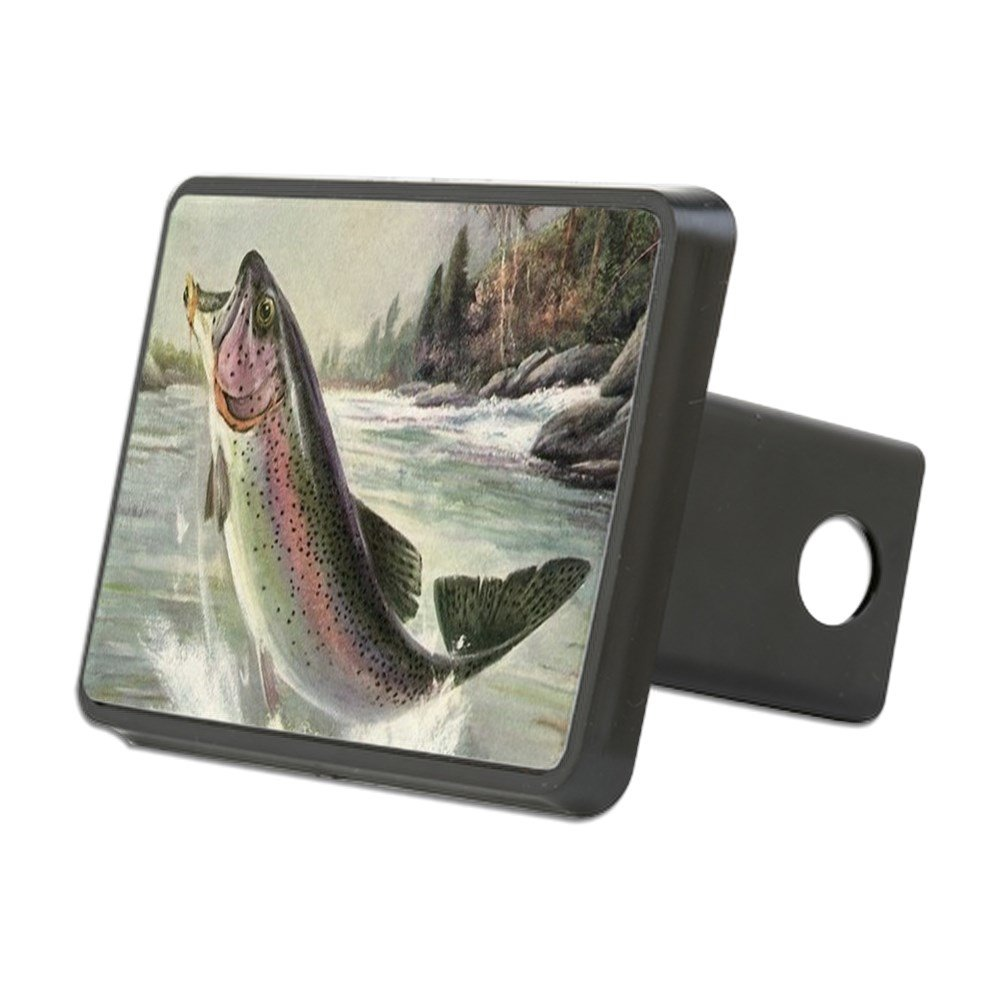 CafePress - Vintage Fishing, Rainbow T - Trailer Hitch Cover, Truck Receiver Hitch Plug Insert by CafePress