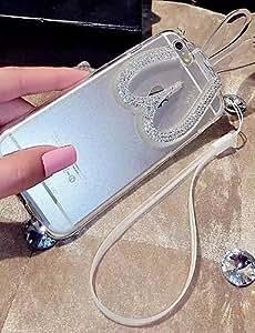 YULIN alta calidad orejas de conejo estilo de pie con el diamante para el iphone 6 (colores surtidos) , purple