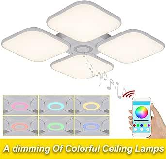 Las luces de techo cuadrado blanco frío, BLANCO CÁLIDO 72w para ...