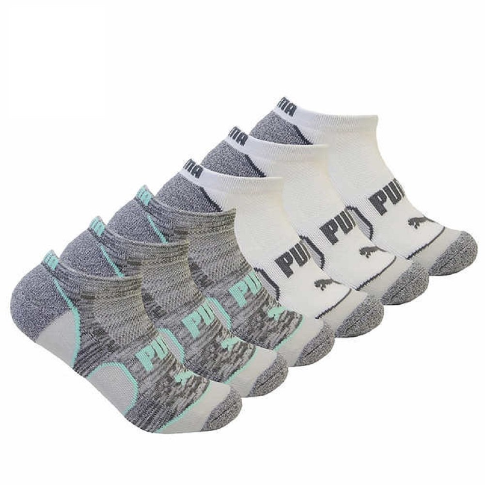 PUMA Women's 6 Pack No Show All Sport Socks
