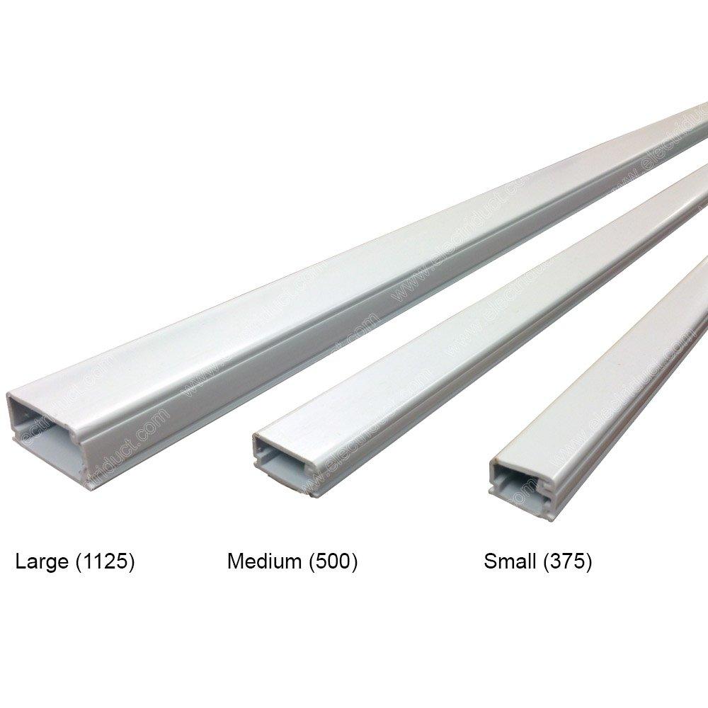 Large 1125 Latching Cable Raceway - Case Order (20pcs) - 6FT Stick Length - Color: Black