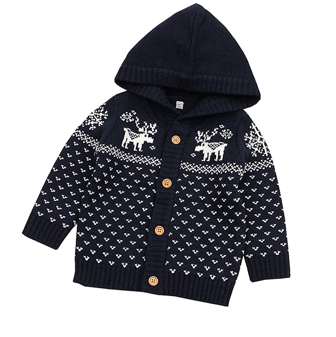 Fairy Baby Toddler Baby Christmas Outfit Knit Cotton Hood Jacket Outwear Sweater Coat