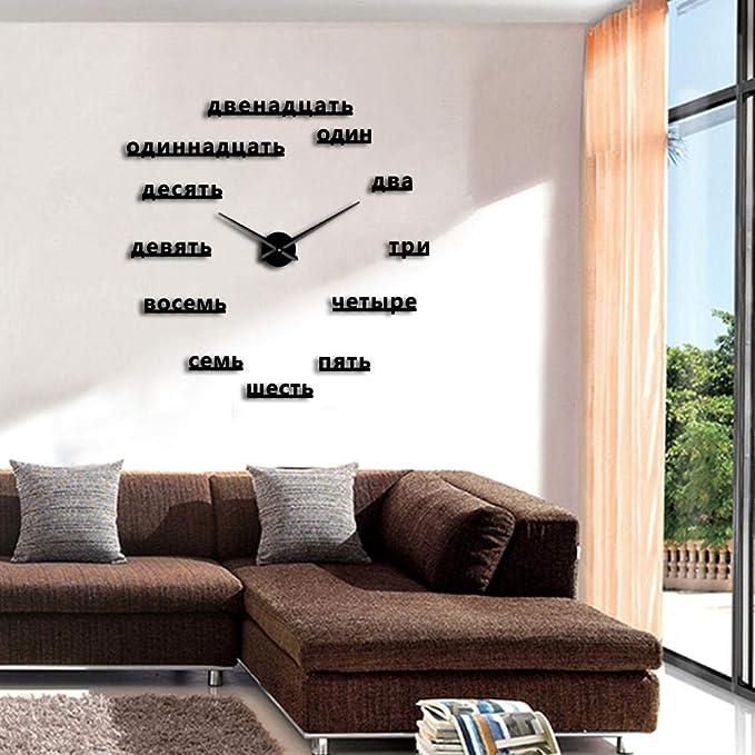 ptk12 Reloj de Pared – Figuras Rusas Bricolaje Grande Reloj de ...