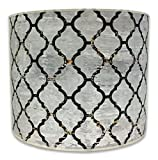 Royal Designs Modern Trendy Decorative Handmade Lamp Shade - Made in USA - Moroccan Tile Textured Design -10 x 10 x 8