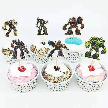 24 decoraciones para cupcakes de superhéroes de los ...