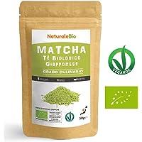 Matcha Tee Pulver Bio [ Cooking-Qualität ] 50 GR | Original Green Tea aus Japan | Japanischer Matcha Ideal zum Smoothies – Shakes - Latte | Tee hergestellt in Japan Uji, Kyoto | NATURALEBIO®