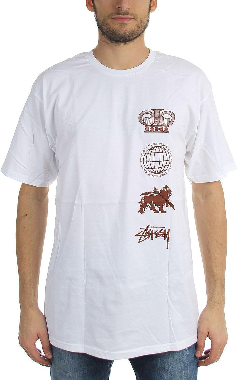 Stussy - Camiseta clásica para hombre Blanco blanco M: Amazon.es: Ropa y accesorios