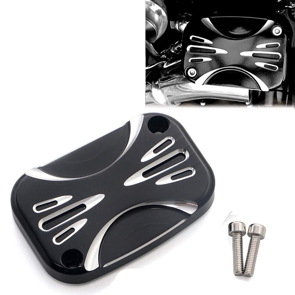 CNC Black Brake Master Cylinder Covers For Harley Electra Glide Road King Road Glide
