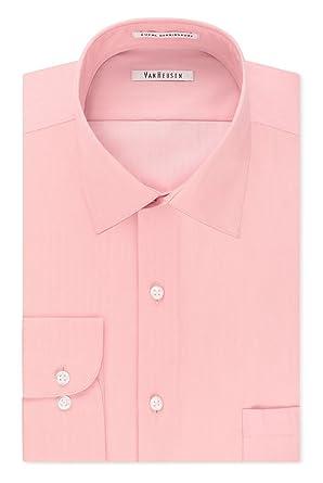9564443dbe72 Amazon.com: Van Heusen Men's Big and Tall Regular-Fit Herringbone Spread  Collar Dress Shirt: Clothing