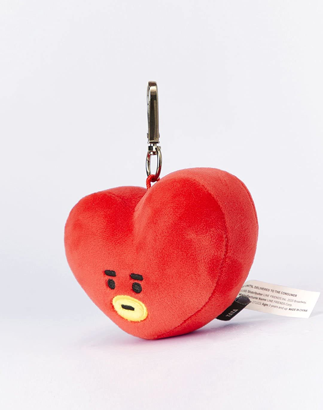 Amazon.com: Line Friends x BTS Collaboration_BT21 TATA Plush Head Keychain: Clothing