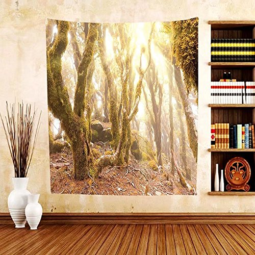 Gzhihine Custom tapestry Rainforest Decorations Tapestry Tropical Rainforest Landscape Malaysia Asia Green Tree Trunks Uncultivated Wood Bedroom Living Room Dorm Decor - Malaysia Eye Mo