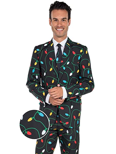 Christmas Suit.Tangle Wrangler Holiday Christmas Suit Ugly Christmas Sweater Party Suit