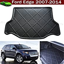 1pcs Black Color Car Boot Pad Carpet Trunk Cargo Liner Floor Mat Molded Cargo Tray Custom Fit For Ford Edge 2007-2014