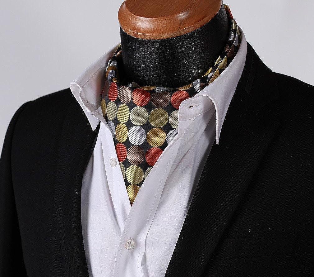 Enlision Cravate en jacquard tissee a pois pour hommes Ascot Party