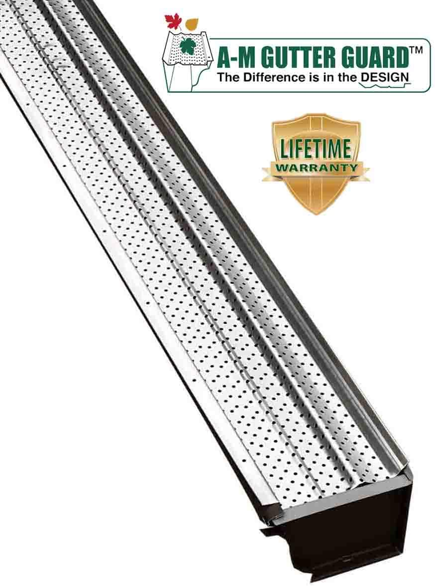"FlexxPoint 30 Year Gutter Cover System 102/' Matte Commercial 6/"" Gutter Guards"