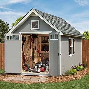 Amazon Com Oakridge 8 X 12 Wood Storage Shed Garden