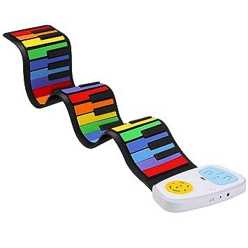 Piano enrollable Lujex de 49 llaves, teclado electrónico portátil, piano de mano, con