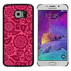 Funda de diseño delgado Ziland/Shel/diseño de flores rosa/Vintage pétalos de papel pintado para Samsung Galaxy S6 EDGE SM-G925