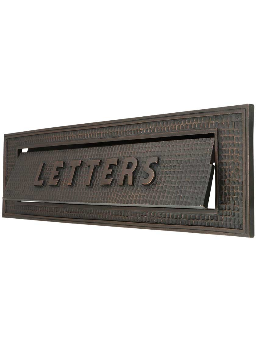Large Bungalow Mail Slot with''Letters'' Front Plate by House of Antique Hardware, Inc. (Image #1)