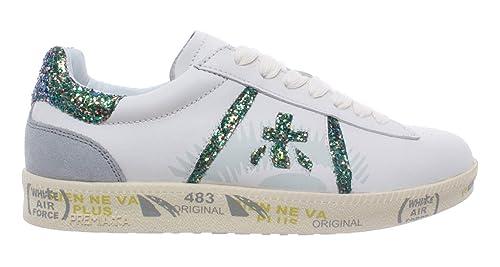 b9aea0ad1c PREMIATA Scarpe Donna Sneakers Andy D 3907 Pelle Bianca Glitter ...