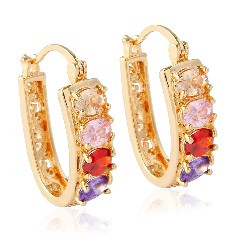de0152c95638 Venta caliente 2018 Dana Carrie Oído simples adornos de oro y plata  diamante de color micro