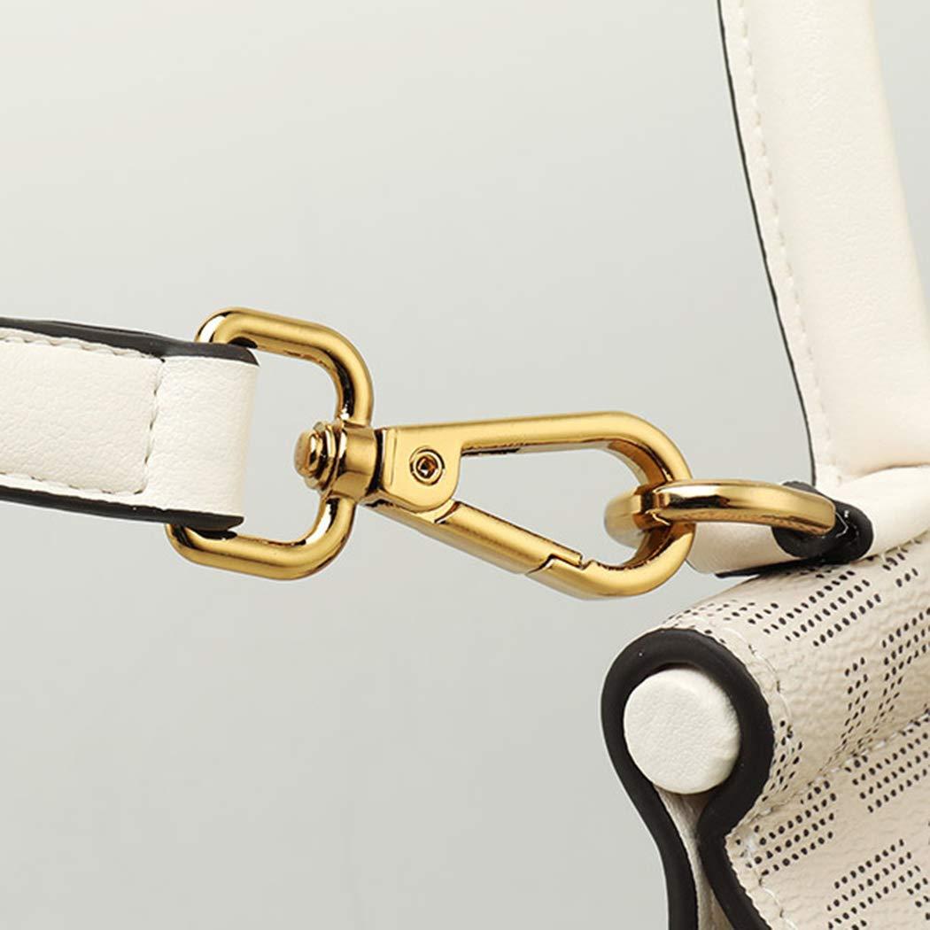 Kvinnors textur handväska strandväska axelväska messengerväska BRUN