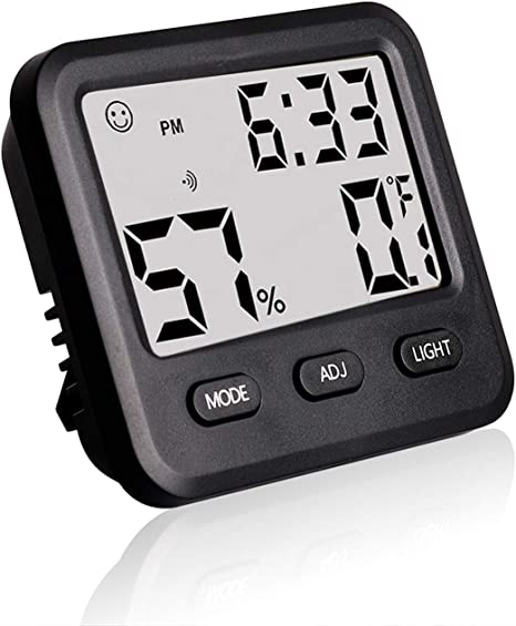 white Humidity Thermometer High Accuracy Digital Hygrometer Portable for Office for Greenhouse