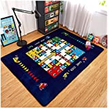 Sport do Cartoon Printed Kids Baby Playing/Crawling Flannel Mat,Living Room/Bedroom Area Rugs,Soft Yoga Carpet...