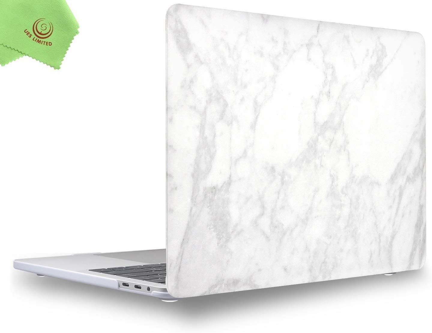 UESWILL MacBook Pro 13 inch Case 2020 2019 2018 2017 2016 Release A2289 A2251 A2159 A1989 A1706 A1708, Marble Pattern Hard Case for MacBook Pro 13 inch, 2/4 Thunderbolt 3 Ports (USB-C), White