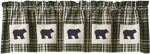 Park Designs Juniper Bear Patch Lined Valance