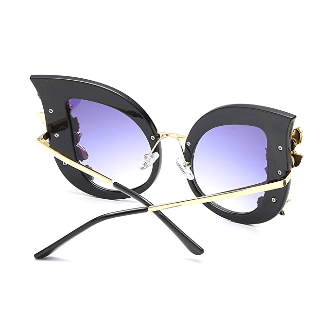 CVOO Cat Eye Gradient Lens Inlaid Crystal Women'S Sunglasses ivCuSQH7