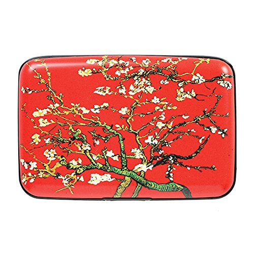 Art Wallet (Women's Fine Art Identity Protection RFID Wallet - Red Branches)