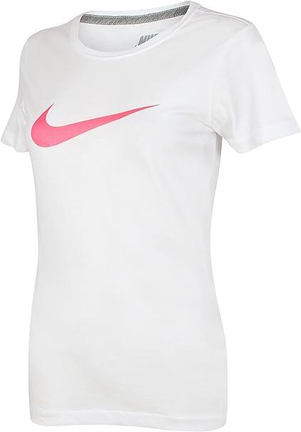 Nike – Swoosh it up algodón Slim Fit – Camiseta para hombre Blanco blanco/rosa Medium: Amazon.es: Ropa y accesorios